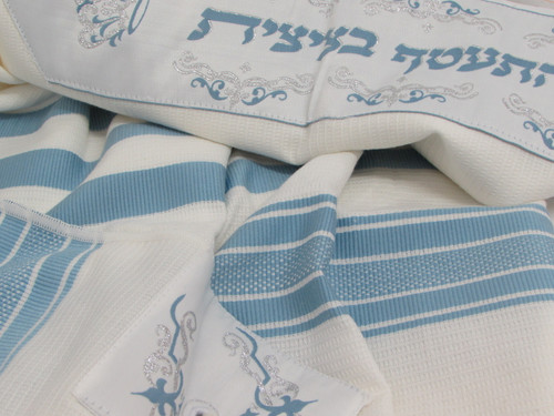 Sky Blue Cotton Tallit