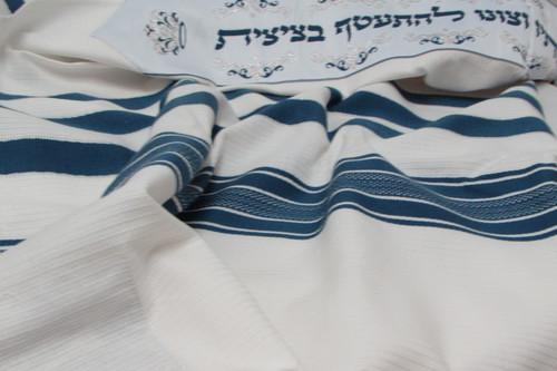 Blue Cotton Tallit