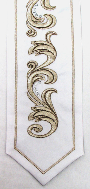 Silver Embroidered Yahalom Atara