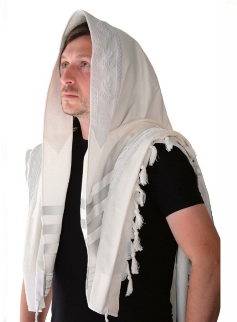 White Cotton Tallit