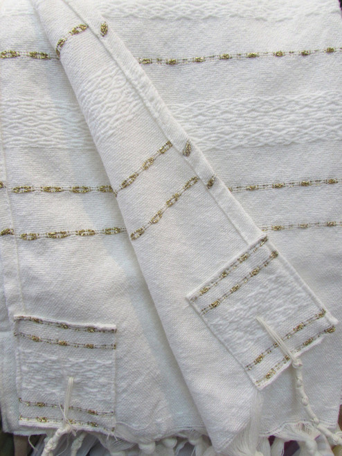 Gabrieli White Wool Classic with Gold