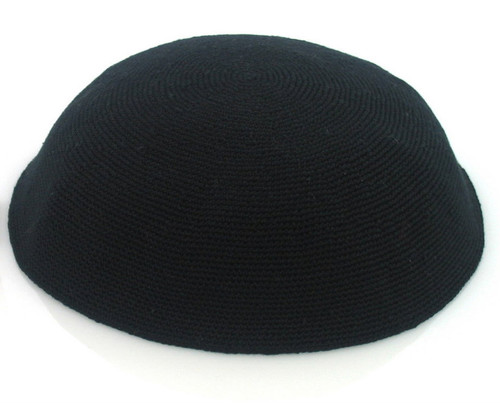 Small Black DMC Knitted Kippah