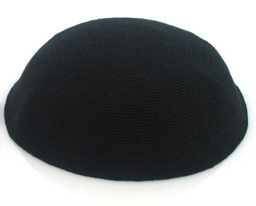Black DMC Knitted Kippah - Medium