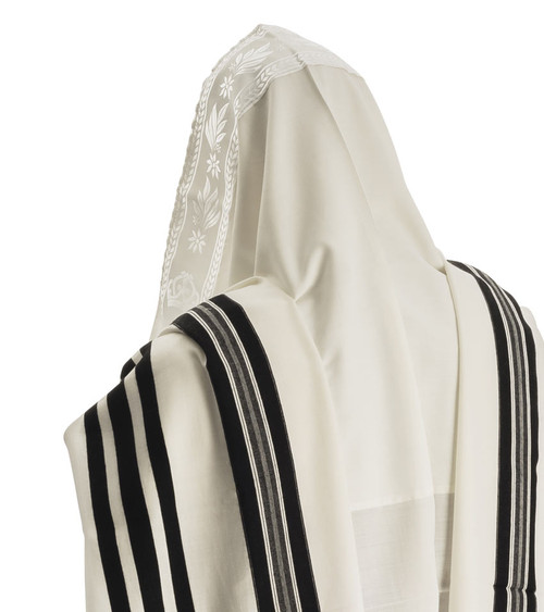 Prima Lite Black-Striped Lightweight Tallit