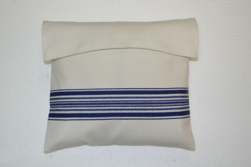 Matching Tallit Bag - Blue and silver striping