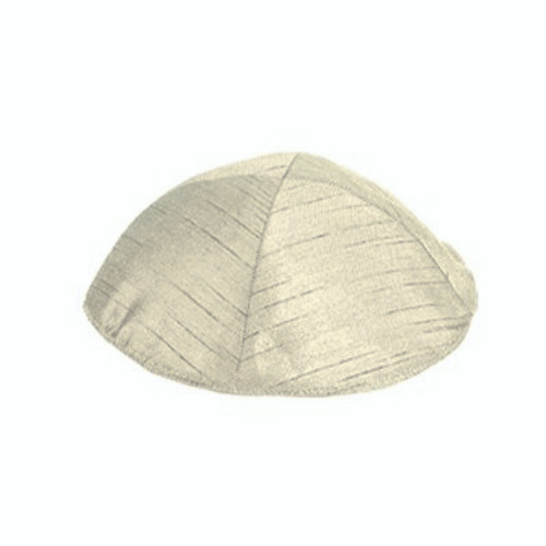 Cream PolySilk Kippah