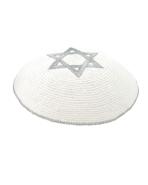 Knitted Kippah with Magen David