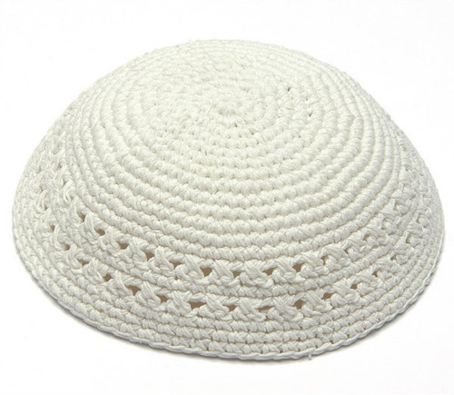 White Knitted Kippah