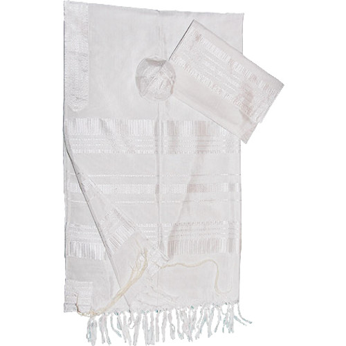 Gabrieli Classic White Silk Tallit