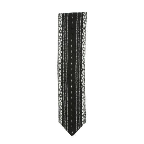 Handwoven Black, White & Silver Atara