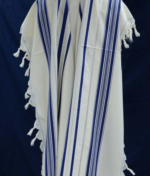 Prima A.A. Blue-Silver Tallit