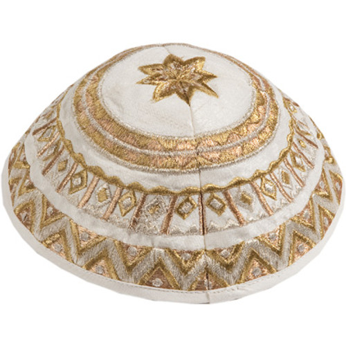 Gold Embroidered Kippah