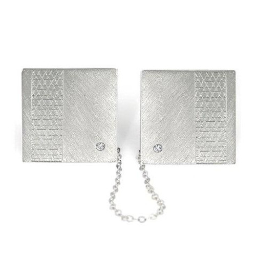 Sterling Silver Magen David Tallit Clips