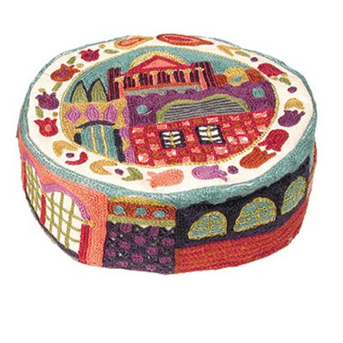 Multicolor Hand-Embroidered Jerusalem Hat