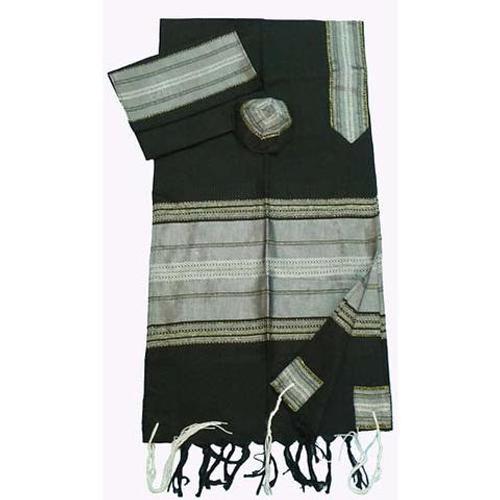 Black, Gray & Gold Silk Tallit