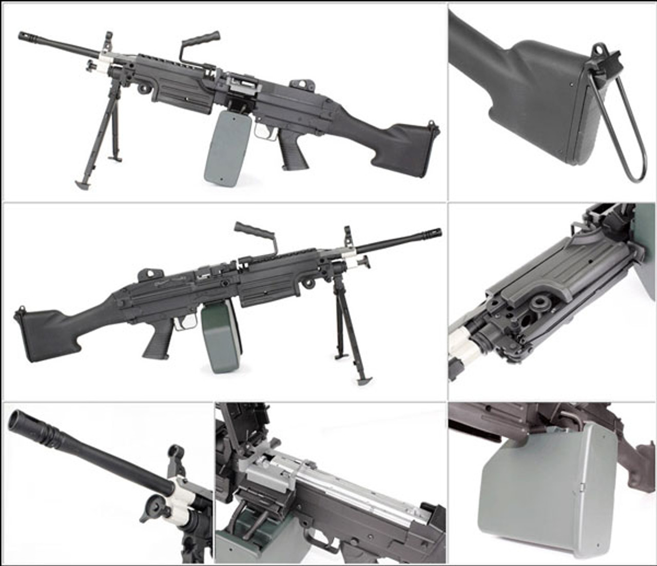 A&K M249 MK2 Full Metal Airsoft Support Weapon