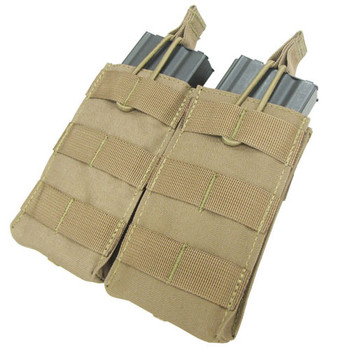 Condor MA18 MOLLE Double Open Top M4/M16 Mag Pouch in Tan