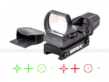 Bravo 4-Reticle Red/Green Dot Reflex Sight RDS4