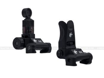 Knight's Armament Micro Flip-Up Sights Set Black