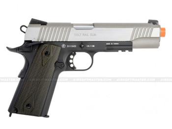 Colt 1911 Rail Government GBB CO2 Airsoft Pistol 2-Tone Silver
