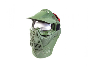 Bravo Modular Full Face Mask for Airsoft with Lens Goggles (OD)