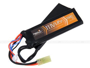 Lancer Tactical 11.1v 1600mAh 20C Lipo Battery Nunchuck