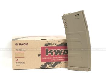 KWA K120 Polymer Midcap Mag 120rd FDE- 6pc Set