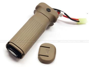 PTS EPF Enhanced Polymer Vertical Grip Battery Compartment Tan