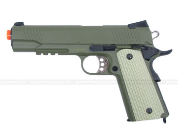 DE 1911 MEU Airsoft Spring Pistol Full Metal Green