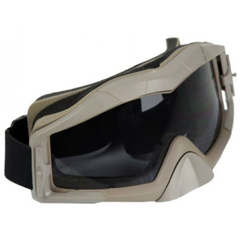 Bravo Tactical Airsoft Goggles - Tan