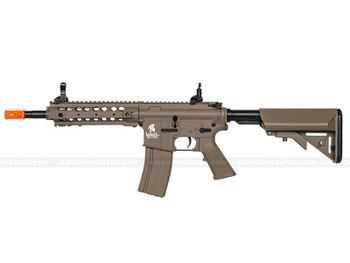 The Lancer Tactical M4 W/ FREE FLOAT RAIL Airsoft Electric Rifle Tan
