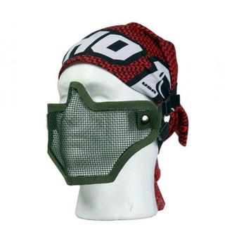 Bravo V1 Strike Steel Half Face Mesh Mask in OD