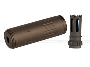 Lancer Tactical AC-403T QD Mock Suppressor w/ Flash Hider Tan