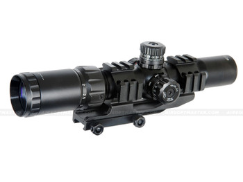 Lancer Tactical CA-409B 1.5-4x Red Green Illuminated Tactical Scope
