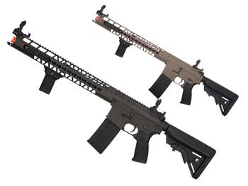 """Dytac 16.2"""" LA RIS M4 Full Metal Airsoft Rifle Black & Tan"""