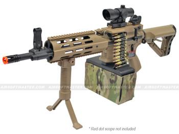 G&G CM16 LMG Airsoft Gun Tan