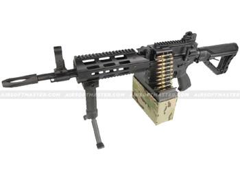 G&G CM16 LMG Airsoft Gun Black