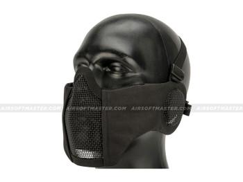 Striker Airsoft Mesh Mask w/ Ear Cover Black