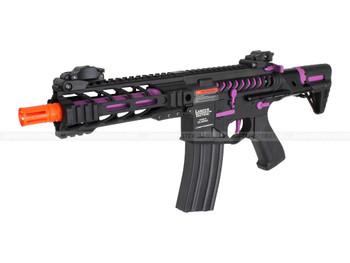 Lancer Tactical PDW Purple Skeleton Full Metal Airsoft Gun