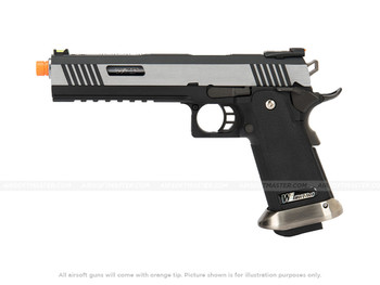 WE Tech 1911 Hi-Capa T-Rex Competition Gas Blowback Pistol with Top Ports
