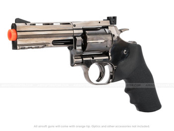 "ASG Dan Wesson 4"" Revolver w/ Hogue Style Grip CO2 - Gun Metal Gray"