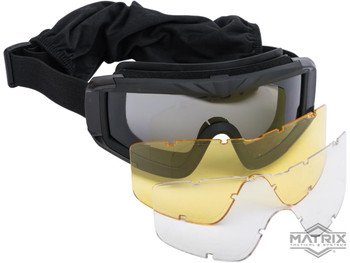 Matrix Airsoft Goggles w Clear Lens ANSI Certified
