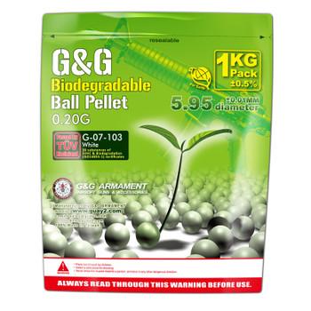 G&G .20g Biodegradable BB 5000rd - White