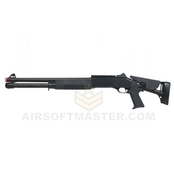 Bravo B28DL 3-Shot Pump Action Shotgun w/ Rail and Retractable Stock