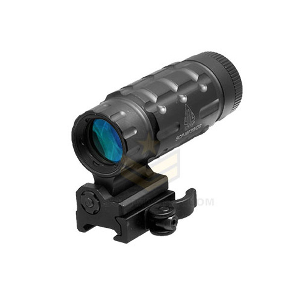 UTG Flip to Side 3X Magnifier With Quick Detach Flip to Side Mount