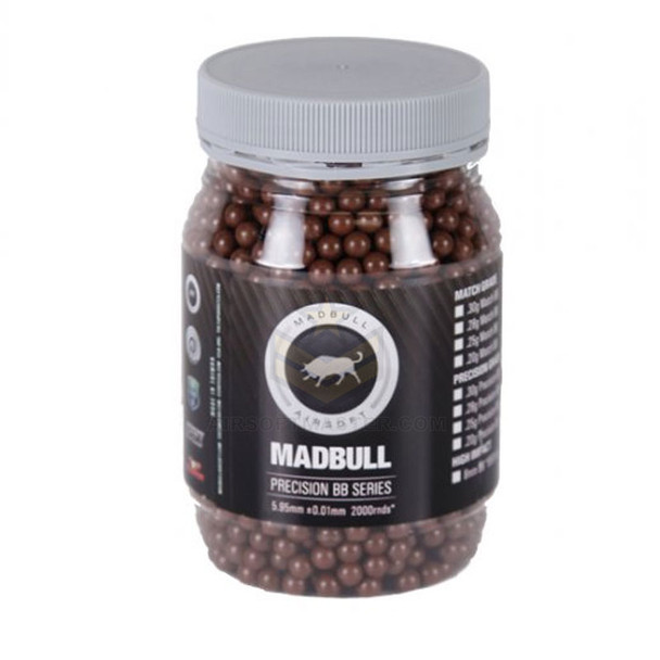 Madbull .36 Grams Sniper Grade BB Brown 2000 BBs