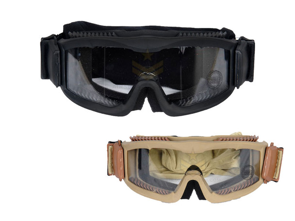 Lancer Tactical CA-221B Airsoft Safety Goggles ANSI Certified Black / Clear Lens