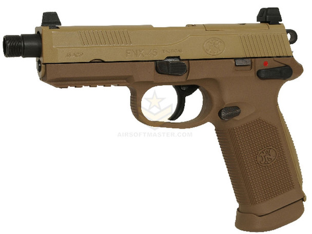 FN Herstal FNX-45 Tactical Gas Blowback Airsoft Pistol Tan