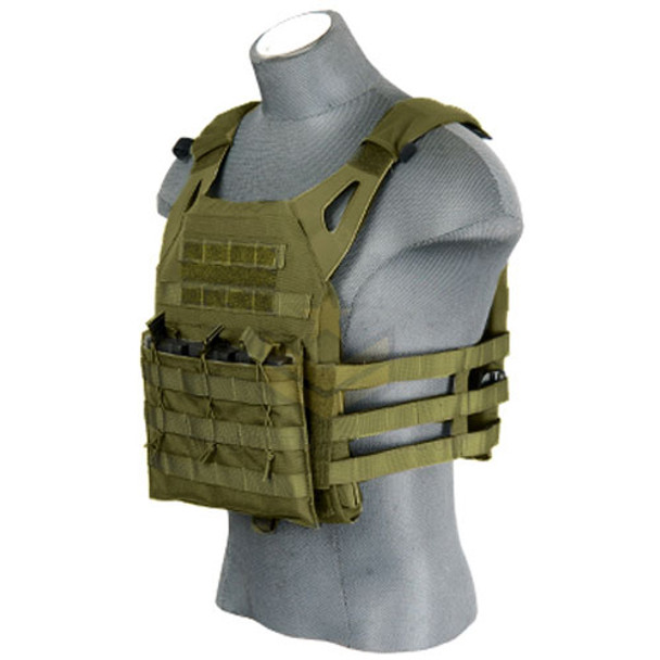 Lancer Tactical JPC Jumpable Plate Carrier OD Green