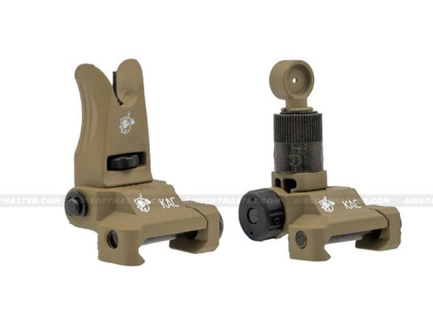 Knight's Armament Micro Flip-Up Sights Set Tan
